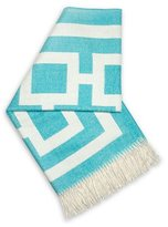 Jonathan Adler Turquoise Nixon Throw