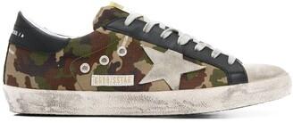 Golden Goose Superstar low-top camouflage print sneakers