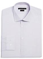 John Varvatos Small Check Stretch Slim Fit Dress Shirt