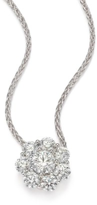 Hearts On Fire Beloved Diamond & 18K White Gold Floral Pendant Necklace