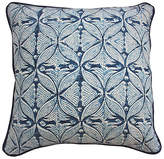 Kim Salmela Chic 20x20 Cotton-Blend Pillow - Indigo