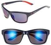Carrera Men's Eyewear 58Mm Polarized Sunglasses - Blue/ Grey Blue Mirror