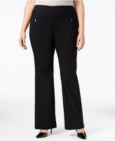 INC International Concepts Plus Size Wide-Leg Pants, Only at Macy's