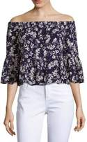 LIKELY Floral-Print Off-The-Shoulder Top