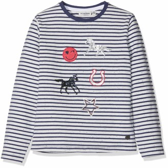 Salt&Pepper Salt and Pepper Girl's Longsleeve Horses II Stripes T-Shirt