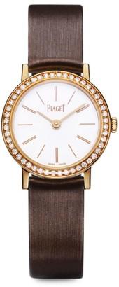 Piaget Altiplano Ultra-Thin 18K Rose Gold, Diamond & Brown Satin Strap Watch