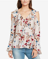 William Rast Ruffled Cold-Shoulder Blouse