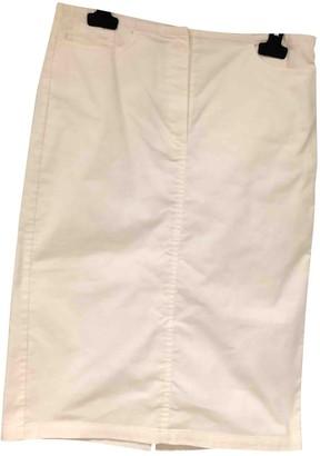 Joseph White Cotton Skirt for Women