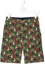 Stella McCartney palm tree print chino shorts - kids - Cotton - 14 yrs