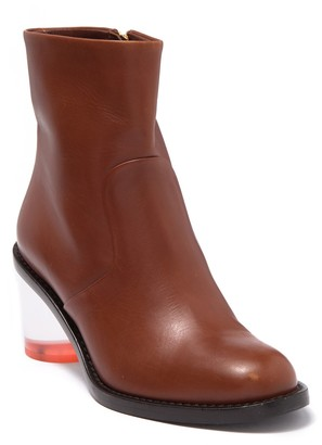 Burberry Westella Leather Translucent Block Heel Boot