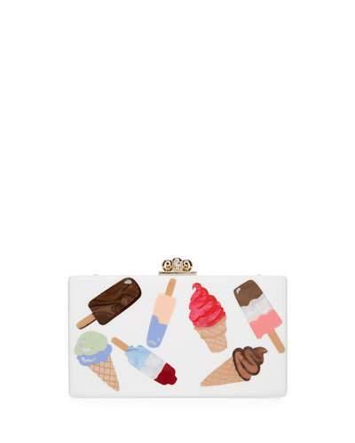Edie Parker Jean Sundae Acrylic Clutch Bag
