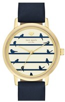 Kate Spade Women's 'Birds On A Wire - Metro' Leather Strap Watch, 34Mm