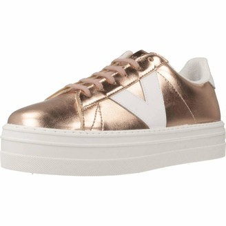 Victoria Women's Barcelona Deportivo Metal Hi-Top Trainers