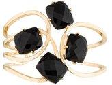 Catherine Malandrino Black Agate Interlace Cuff Bracelet
