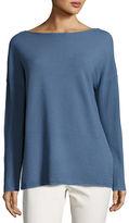 Lafayette 148 New York Matte Crepe V-Back Sweater