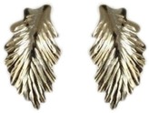 Estate 14K Yellow Gold Leaf Design Grecian Style Earrings