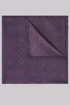 Moss Bros Purple Geo Silk Pocket Square