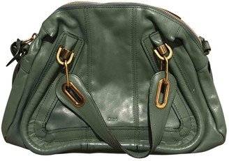 Chloé Paraty Green Leather Handbags