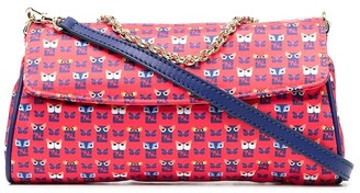 Fendi Pre-Owned Bag Bugs-print clutch bag