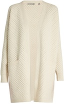 Vince Honeycomb-knit wool and yak-blend cardigan