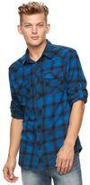 Rock & Republic Men's Plaid Flannel Button-Down Shirt