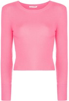 Alice + Olivia Ciara long-sleeved cropped top