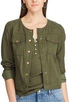 Chaps Women's Crop Twill Jacket