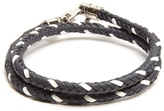 Tod's Mycolours woven-leather bracelet
