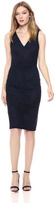 Adrianna Papell Women's Vintage Stripe LACE Sheath Dress