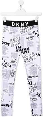 DKNY All-Over Logo Leggings