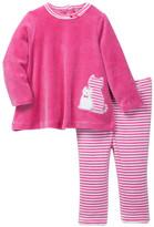 Offspring Velour Cat Tunic & Legging Set (Baby Girls 12-24M)