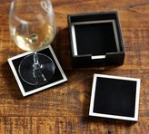 Pottery Barn Ivory and Black Resin Coasters
