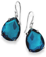 Ippolita 925 Rock Candy Wonderland Pear Drop Earrings in Dark Blue Frost