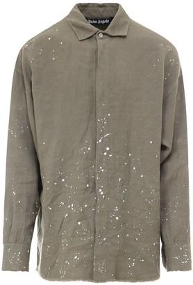 Palm Angels Logo Paint Splatter Shirt