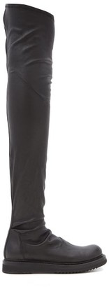 Rick Owens Stretch-leather Over-the-knee Boots - Black