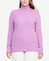 Lauren Ralph Lauren Plus Size Ribbed Turtleneck Sweater