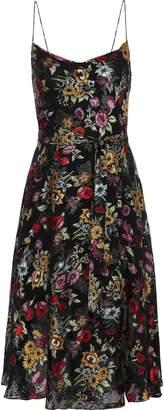 Alice + Olivia Heather Wrap-effect Floral-print Fil Coupe Chiffon Dress