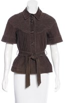 Moschino Cheap & Chic Moschino Cheap and Chic Suede Short Sleeve Jacket