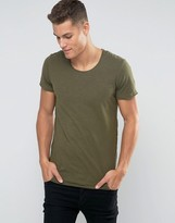 Jack and Jones Basic T-Shirt with Raw Hem Detail