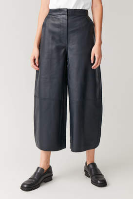 Cos ROUNDED LEATHER PANTS