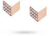 Fossil Ladies Vintage Glitz Rose Arrow Stud Earrings JF02423791