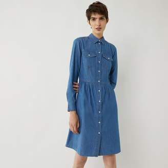Warehouse DENIM WAISTED SHIRT DRESS