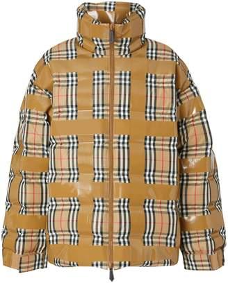 Burberry Vintage Check Print Puffer Jacket