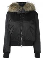 Moncler fur trim padded jacket