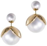 Jarin K Jewelry - Double Sided Pearl Lotus Earrings