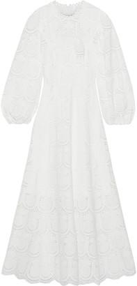 Zimmermann Wayfarer Broderie Anglaise Cotton Midi Dress