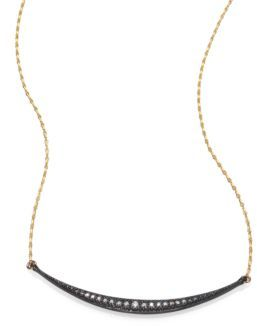 Mizuki 14K Yellow Gold Crescent Pendant Necklace