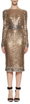 Tom Ford Embroidered Metal Sheath Dress