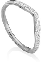 Monica Vinader Riva Diamond Wave Stacking ring