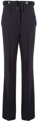 No.21 high waist buttoned trousers